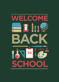 Welcome Back To School Poster Stock Images