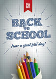 Welcome Back to School Poster Stock Photo