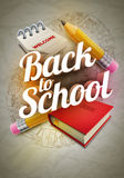 Welcome Back To School Poster Design Stock Photo