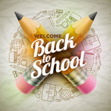 Welcome Back To School Poster Royalty Free Stock Image