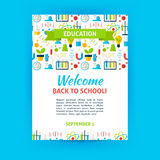 Welcome Back to School Poster Template Royalty Free Stock Photography