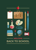 Welcome Back To School Poster Royalty Free Stock Images