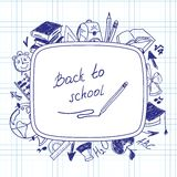 Welcome back to school, school background of Royalty Free Stock Photography
