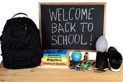 Welcome Back to School - School Supply Stock Image