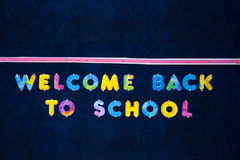 Welcome back to school sign Stock Photo