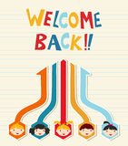 Welcome back to School student network Stock Image
