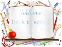 Welcome Back to school supplies. EPS 10 Royalty Free Stock Photography