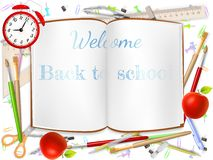 Welcome Back to school supplies. EPS 10 Stock Photography