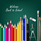 Welcome back to school with teaching aids Stock Photo