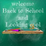 Welcome back to school template design. plus EPS10 Stock Image