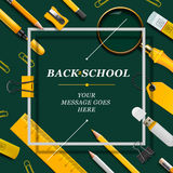 Welcome Back to school template with schools Royalty Free Stock Photography