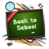 Welcome back to school template Stock Photos
