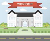 Welcome back to school theme, education concept Royalty Free Stock Photography