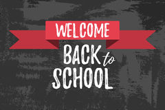 Welcome Back to School Typographic - Vintage Style Back to Schoo. L. Vector illustration Royalty Free Illustration