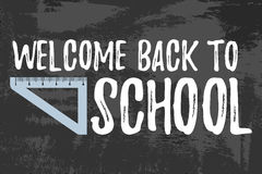 Welcome Back to School Typographic - Vintage Style Back to Schoo. L. Vector illustration Stock Image