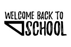 Welcome Back to School Typographic - Vintage Style Back to School. Vector illustration Royalty Free Stock Image