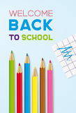 Welcome Back to School. Vector Royalty Free Stock Photos