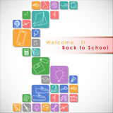 Welcome back to school. Royalty Free Stock Image