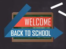 Welcome back to school vector graphic Stock Photography