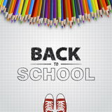 Welcome back to school Vector illustration. Card design Stock Photography