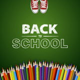 Welcome back to school Vector illustration. Card design Stock Images