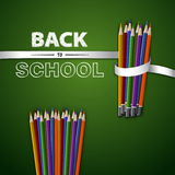 Welcome back to school. Vector illustration. Card design Stock Photo