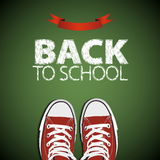 Welcome back to school. Vector illustration. Card design Stock Image