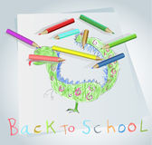 Welcome back to school, vector illustration. Stock Image