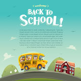 Welcome back to School! Wide copy space for text. Royalty Free Stock Photo