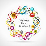Welcome back to school. Wishing card Royalty Free Stock Photos