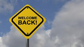 Welcome back stock video footage