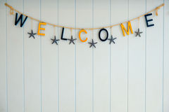 Welcome on background. Stock Photos