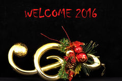 Welcome 2016 background and texture. Music icon Stock Photo