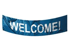 Welcome banner Stock Images