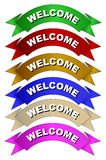 Welcome banner Royalty Free Stock Photo