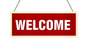 Welcome Banner. 2d Illustration of Welcome Banner Royalty Free Stock Images