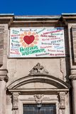 Welcome to the Schlosskirche Bayreuth royalty free stock images