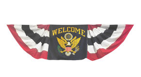 Welcome banner flag isolated. Stock Photo