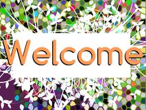 Welcome banner with floral fantasy Royalty Free Stock Images