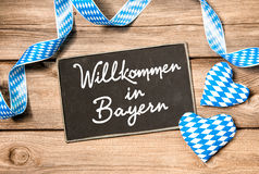 Welcome in Bavaria Royalty Free Stock Photos