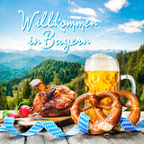 Welcome in Bavaria Stock Photography