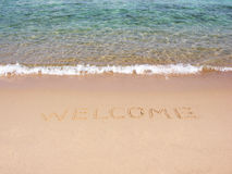 Welcome on beach Stock Photos