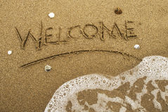 Welcome beach Royalty Free Stock Photo