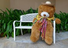 Welcome bear doll Royalty Free Stock Photography