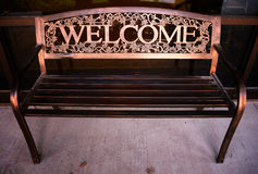 Welcome Bench Stock Photography
