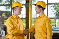 Welcome in a big factory Stock Images