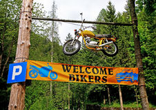 Welcome bikers! Stock Images