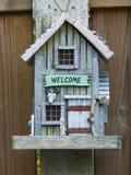 Welcome bird house Stock Photo