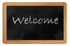 Welcome on a Blackboard Stock Photography