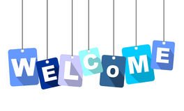 Welcome. This is blue illustration welcome Royalty Free Stock Images